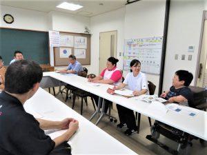 昨年の様子/職員、利用者さんによる東京旅行の反省会に参加